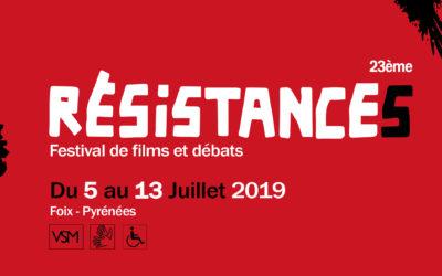 Les thématiques du Festival Résistances !